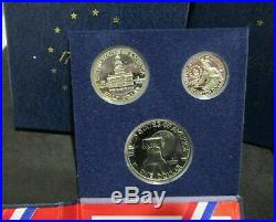 (10) 1976-S SILVER Proof 3 Coin 1776-1976 40% Silver Proof Sets Dealer Lot