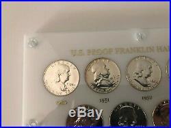 1950-1963 PROOF Franklin Half Dollar Set, 90% SILVER