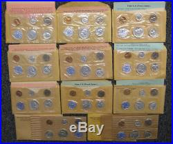 1955 1956 thru 1964 11pc Proof Set Collection with OGP envelopes & paperwork