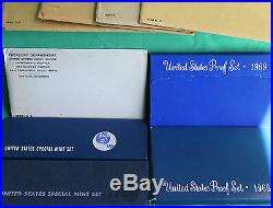 1960 1969 TEN Annual United States Mint Proof Sets 50 Coins Lot of 10 Years
