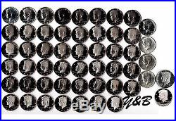 1964 2017 S Proof Kennedy Half Dollar Complete Set (include silver proof, SMS)