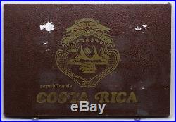 1970 Costa Rica Proof Set 10-Coin RARE Gold & Silver Monedas JB321