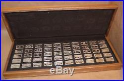 1973 Franklin Mint Bank Ingots Complete Set 104 Oz Sterling Silver