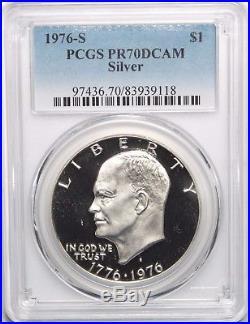 1976 S $1 Silver Eisenhower Ike Dollar PCGS PR70DCAM