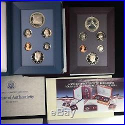 1983 1997 COMPLETE PRESTIGE PROOF SET COLLECTION ALL 14 SETS w BOX & COA