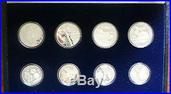 1985-1986 MEXICO OFFICIAL COMPLETE 7 Oz SILVER PROOF SET (12) SOCCER WORLD CUP