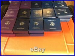 1986-2013 Proof American Eagle Silver Dollar Set