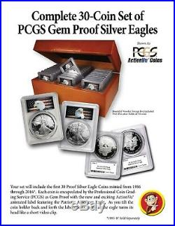 1986-2016 30-Coin American Silver Eagle Set PCGS Gem Proof (Nicely Priced)