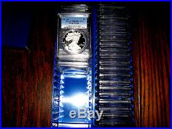 1986 2019 (33) Coin Proof American Silver Eagle Set Pcgs Pr 69