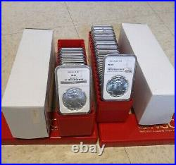 1986 2021(36) Coin American Silver Eagle Complete Set Ngc Ms 69