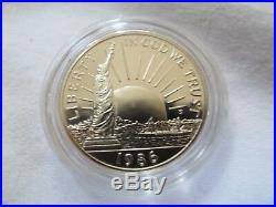 1986 U. S. Liberty 3 Coin Proof Set$5 Gold Piece, Silver Dollar And Half-Dollar