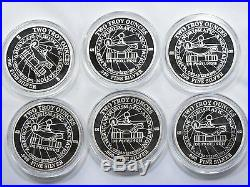 1988 Norman Rockwell Post Silver medallions proof set 12-2oz medallions