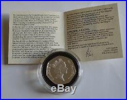 1992 1993 Silver Proof Piedfort Rare EU presidency(EEC) Fifty Pence 50p Coin