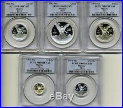 1993 MO 1.9 Onza Oz Silver Mexican Libertad Proof Set PCGS PR 69 DCAM 5 Coins