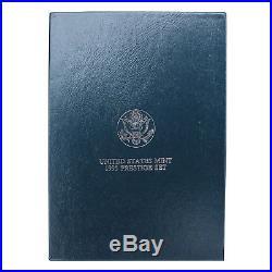 1995 S Prestige Proof Set Civil War 90% Silver Dollar 7 US Mint Coins