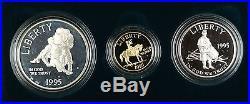 1995 US Mint Civil War Battlefield Commemorative 3 Coin Proof Set as Issued DGH