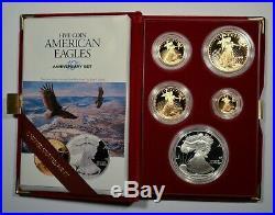 1995-W American Eagle 10th Anniversary Gold & Silver Bullion Proof Set