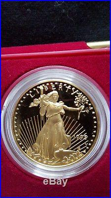 1995 W PROOF AMERICAN EAGLE 10th ANNIVERSARY 5 COIN SET ORIGINAL OWNER RARE SET