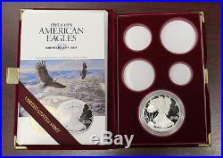 1995 W Proof American Silver Eagle 1oz. 999 from 10th Anniversary Set (650)