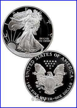 1995 W U. S. Mint 10th Anniversary Gold and Silver Eagle Proof Set SKU1342