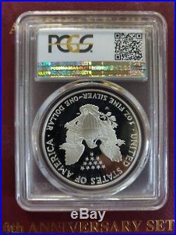 1995-w American Silver Eagle Pcgs Pr69dcam Key Date Rare Gold-shield