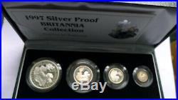 1997 Britannia Collection SILVER PROOF Set Troy Ounce. 958 Fine Low Mintage