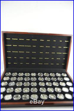 1999-2008 COMPLETE SET US Silver Proof 50 State Quarters with Box & COA