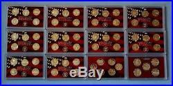 1999 2010 Silver Proof Quarter Sets- 61 Coins -No Box