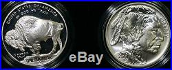 2001 Buffalo Two Coin Silver Dollar Commemorative Coins US Mint Set with Box & COA
