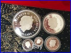 2002 Australia series I horse lunar proof Kilo 10oz 2oz 1oz 1/2 silver coin set