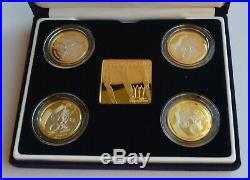 2002 Manchester Commonwealth Games Silver Proof £2 Coin Set Blue Box COA