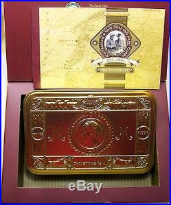 2005 ANZAC 90th ANNIVERSARY 2 X SILVER PROOF Coin Biscuit Tin Set
