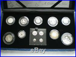 2006 The Queens 80th Birthday Collection In Silver Proof 13 Coin Set