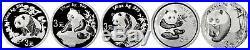 2007 3 Yuan Peoples Republic Of China 1/4 oz. 999 Chinese Silver Panda Proof Set
