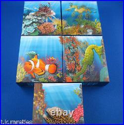 2009/10 Australian Sea Life I The Reef 5 Five Silver Proof Coin Set SUPERB SET