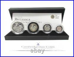 2009 Proof Silver Britannia Set Four Coin Royal Mint Fine Silver COA