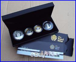 2009 Royal Mint silver proof piedfort 4 coin collection inc Kew 50p