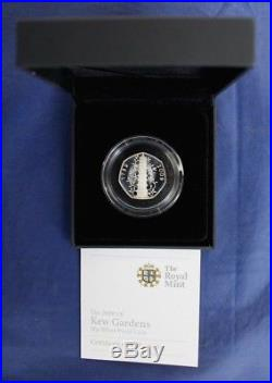 2009 Silver Proof 50p coin Kew Gardens in Case with COA (J10/33)