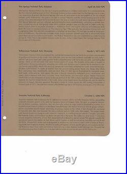 2010- 2015 ATB National Park 120 Quarter Set PDSS Clad/Silver Proof Dansco Album