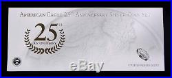 2011 American Silver Eagles 25th Anniversary 5 Coin Set, NGC-69 (Early Releases)