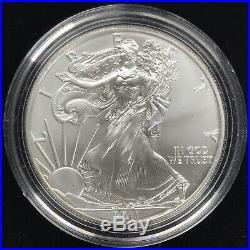 2011 SILVER EAGLE 25th ANNIVERSARY SILVER 5-COIN SET w OGP BOX & COA
