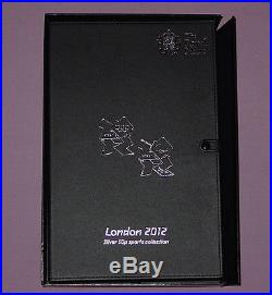 2012 ROYAL MINT LONDON OLYMPICS FULL SILVER 50p SPORTS COLLECTION IN CASE