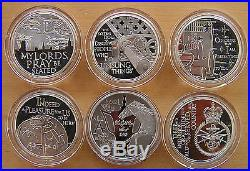 2012 Royal Mint Queen's Diamond Jubilee Royal Duties Silver Proof Coin Set