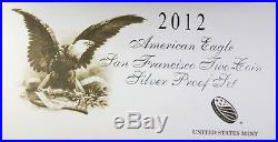 2012-S American Silver Eagle ASE Two Coin Set Reverse Proof OGP
