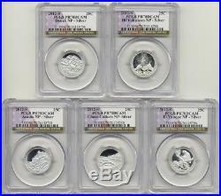 2012 S Silver Proof Quarters PCGS PR70 DCAM Set ATB National Parks