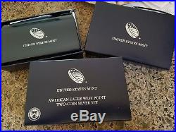 2013 American Eagle Reverse Proof/ & Enhanced Uncirculated 2 Coin West Point Set