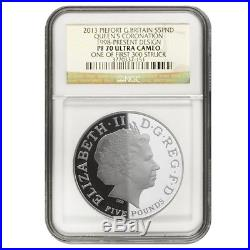 2013 Great Britain 5 Pounds Queens Portrait Proof Silver 4-Coin Set NGC PF 70
