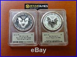 2013 W Reverse Proof Silver Eagle Pcgs Pr70 Sp70 Thomas Cleveland West Point Set