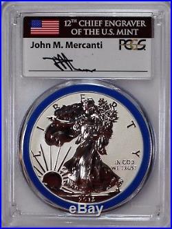 2013 W Silver Eagle West Point Set PCGS PR70/SP70 Mercanti Mint Engraver Series