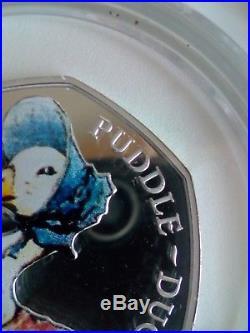 2016 Jemima Puddle Duck Silver Proof 50p Coin Beatrix Potter Rare Print Error